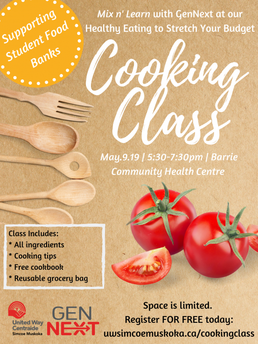 Poster for GenNext Cooking Class