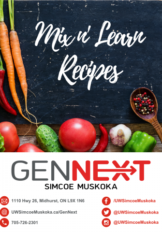 GenNext Mix n' Learn Cook Book cover